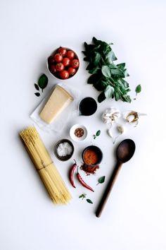 Simple Roasted Tomato & Smokey Chili Spaghetti | Gather & Feast