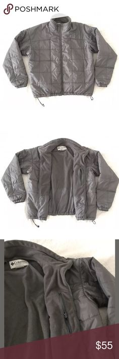 """COLUMBIA Men's Gray Jacket Size XL Gently worn , in great condition. Size XL. Length 28"""" Core - interchange , basique TG Homme / Men's . Color Gray. With 2 external and 1 inner zipper pockets. Very light. No damages , looks like new. Columbia Jackets & Coats"""