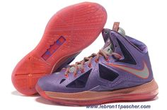 new style a8514 5b1d4 Chaud All Star 583108-500 Femmess Nike Lebron 10 Laser Pourpre Strata Gris  - Total