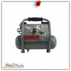 Senco 1 Gallon Finish and Trim Air Compressor.  SENCO's 1 Gallon Finish & Trim air compressor is designed with the professional contractor in mind. woodwerks.com #woodworking #Senco #Tools
