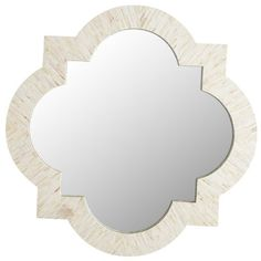 Ivory Mother-of-Pearl Quatrefoil Mirror   Pier 1 Imports