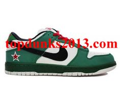 low priced 01f8f ce520 Heineken Classic Green Black White Red Nike Dunk Low SB Pro High Quality Nike  Dunks,