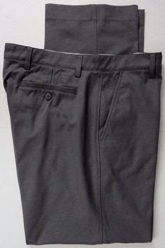 FootJoy Mens 36X32 Golf Tech Pants Gray Performance Wicking Flat Front Poly Mix #FootJoy
