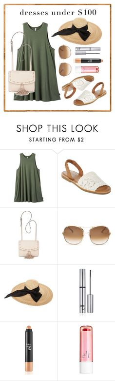 """sun fun"" by f-heu ❤ liked on Polyvore featuring RVCA, Arizona, Steve Madden, Chloé, Kreisi Couture and e.l.f."