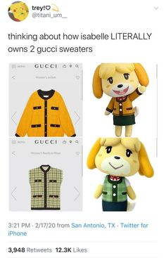 animal crossing memes Isabelle be richer than all - animals Animal Crossing Fan Art, Animal Crossing Memes, Animal Crossing Villagers, Chanbaek, Stupid Funny Memes, Hilarious, Gaming Memes, New Leaf, Just In Case