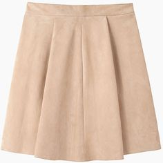 Proenza Schouler Pleated Suede Skirt ($675) ❤ liked on Polyvore featuring skirts, mini skirts, pink pleated mini skirt, short mini skirts, pleated miniskirt, peach skirt and pleated skirt