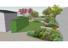 Design visual for a new garden using planting and raised beds to create a series… Landscape Design Software, Planting, Gardening, Lawn Edging, Focal Points, Raised Beds, Plans, Integrity, Dublin