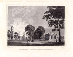 Yale College and State House Newhaven Connecticut 1846