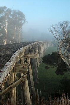 Meenyan Trestle Bridge, Gippsland, Australia