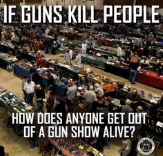 Guns don't kill people, that's why we need background checks on the PEOPLE and not the guns.