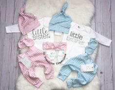 ab37948e5 Twins Coming Home Outfits Newborn Outfit Baby Boy Outfit Baby Girl Outfit  Twin Boy Girl Gender Neutral Little Sister Little Brother