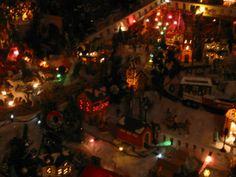 Christmas Village at night