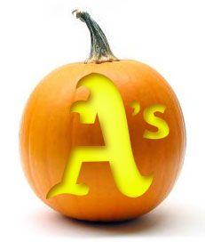 A's Halloween stencil