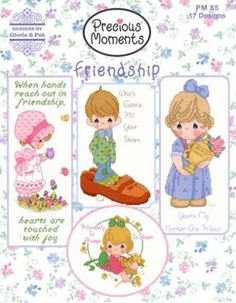 Precious Moments FRIENDSHIP Cross Stitch Pattern Designs PM65 Gloria  Pat