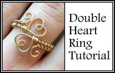 Learn how to create a cute (and adjustable!) double heart ring, in this beginner-friendly wire wrapping tutorial. Ring size chart: https://en.wikipedia.org/w...