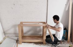 HomeMade Modern DIY EP38 Wood + Concrete Kitchen Island Step 16