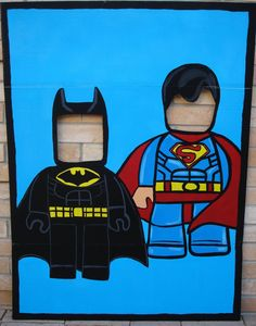 4 ft. Batman and Superman Lego Inspired by SweetCarolinesStudio, $65.00