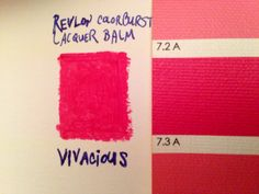 Revlon's colorburst lacquer balm in Vivacious matches Bright Spring's 7.3 A