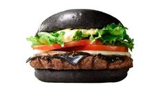 Burger King goes 'goth' in Japan with their 'Black Burger' (.- Burger King goes 'goth' in Japan with their 'Black Burger' (and black cheese) Big Mac, Kfc, Superfood, Charcoal Burger, Charcoal Bread, National Sandwich Day, Black Burger, Black Bun, Japanese Menu