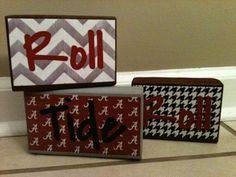 Alabama Roll Tide Roll Decorative Blocks