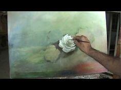 Pintando um quadro de rosas parte 1
