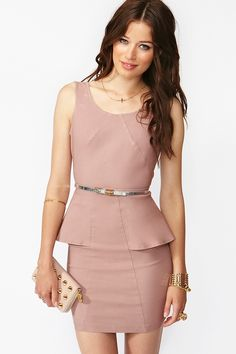 Outfits fit for a fashion show:  Perfect Peplum Dress