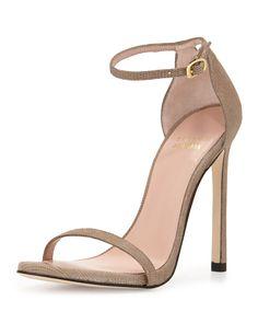 Nudist Goosebump Napa Sandal, Fawn, Women's, Size: 38B/8B - Stuart Weitzman