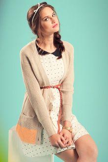 Vero Moda - Robe sans manches crème, noir et orange motif coeurs  #venteprivee  www.vente-privee.com