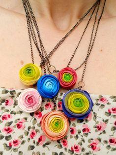 flowers necklaces