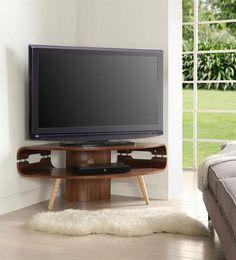 Jual Curve JF701 Walnut Corner TV Stand £300