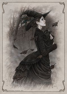 ImageFind images and videos about art, witch and victoria frances on We Heart It - the app to get lost in what you love. Halloween Art, Vintage Halloween, Halloween Witches, Halloween Costumes, Halloween Table, Halloween Signs, Vintage Holiday, Halloween Stuff, Halloween Makeup