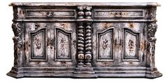 The Barcelona Buffet in Old world white , 4 doors, 2 big drawers, resembles Old world furniture with an antique look. Hand painted with hand forged handles, stunning piece! Old World Furniture, Tuscan Furniture, Hand Painted Furniture, Handmade Furniture, Colorful Furniture, Unique Furniture, Romantic Bedroom Decor, Wrought Iron Doors, Tuscan House