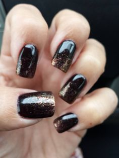 fall colored nails