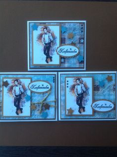 Konfirmationskort Young Ones, Cardmaking, Projects To Try, Scrap, Crafting, Baseball Cards, Boys, Birthday, Inspiration
