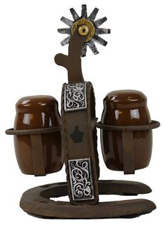 LL Home Cast Iron Spur Salt and Pepper Shaker Set ** Remarkable product available now. : Salt Pepper Shaker