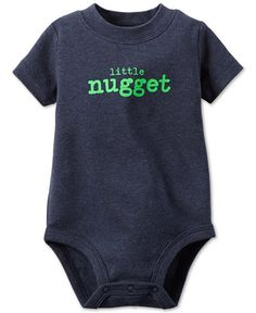Carter's Baby Boys' Short-Sleeve Little Nugget Bodysuit 9 or 12 months
