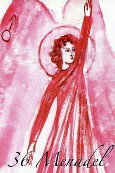 (36) MENADEL (Kabbalistic angel) 18-23 September, provides essence of: Enterprise. (ángel Cabalístico) 18-23 septiembre, aporta esencia de: Trabajo. Angel Drawing, Ascended Masters, Names Of God, Tarot, Disney Characters, Fictional Characters, Aurora Sleeping Beauty, Disney Princess, Drawings