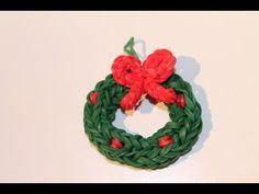 Rainbow Loom Nederlands, 3d kerstkrans, Xmas wreath, Original Design Christmas wreath