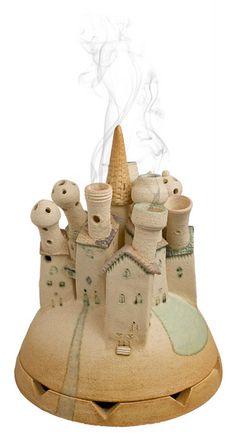 """Il Paese dei Profumi (bruciaprofumi) / The land of scents (scents diffuser)"" cod. 048 by www.biavatibottegadellestelle.it"