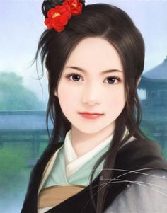 Was and asian girl illustration