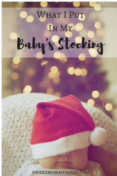 Baby stocking stuffers can be hard to come up with. I put some things we needed and some things for fun in my baby's stocking and it was perfect! Click through to read more or repin for later!  #babychristmas #firstchristmas #StockingStuffers #babysfirstchristmas #newbornbaby #christmas #christmasgifts #christmastime #advent