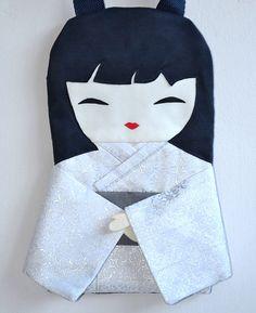 Elegant Doll Handbag Japanese Handmade a by NinuMiluBagDolls,