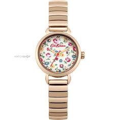 Ladies Cath Kidston Little Flower Buds Rose Gold Expander Watch CKL016RGM