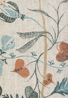 Lewis & Wood linen print