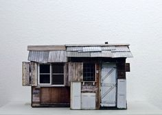 Junkculture: Small Scale Models of Makeshift Shelters Constructed from Digital Photographs
