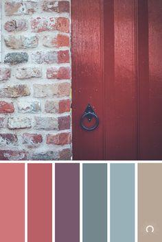 [ red door ] color palette | color inspiration | colorful