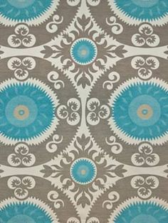 EMPEROR'S SUN TURQUOISE | Childress Fabrics | Online Fabric Store