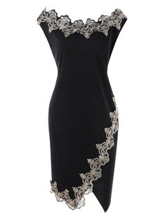 Cheap Fashion online retailer providing customers trendy and stylish clothing including different categories such as dresses, tops, swimwear. Clothes Plus Size Bodycon Dress with Flower Embroidered Trim Mode Outfits, Stylish Outfits, Dress Outfits, Fashion Dresses, Maxi Dresses, Dress Clothes, Pencil Dresses, Resort Dresses, Wrap Dresses