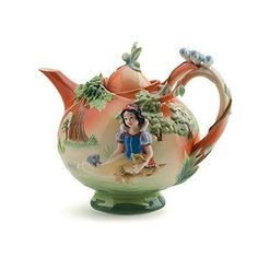 Porcelain Snow White Teapot by Franz