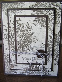 Another Triple Layer card November 2012 by Bev Simple Christmas, Christmas Cards, Love Birthday Cards, Card Making Tips, Fun Fold Cards, Flower Cards, Homemade Cards, Stampin Up Cards, I Card